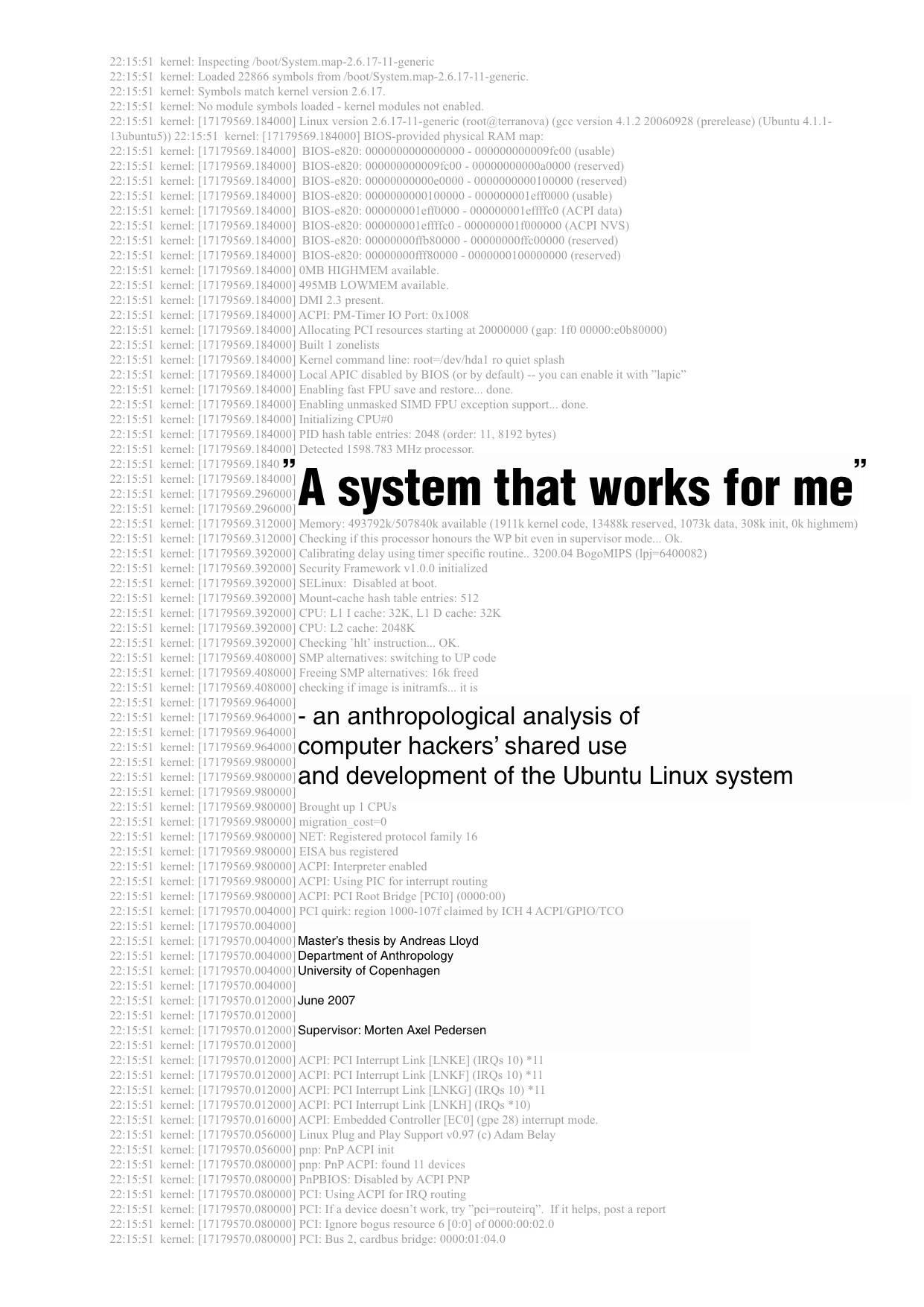 computer operating real science system thesis time